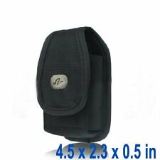 Carrying Cell Phone Case Pouch belt Clip Universal Heavy Duty Rugged Nylon Flip