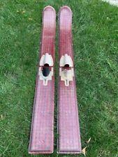 Vintage Red Plaid Water Skis