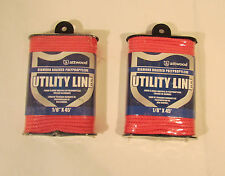 """Two Attwood Pink Diamond Braided 1/8"""" x 45' Utility Line"""
