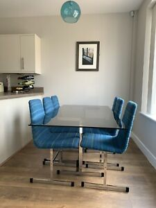 Pieff Lisse Dining Table And Six Chairs 1970's By Tim Bates