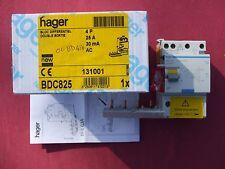 Réf BDC825 OU BD426 BLOC DIFFERENTIEL 4P 25A 30mA type AC 230;400V NEUF