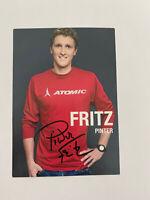 Fritz Pinter Autogrammkarte Original mit Unterschrift