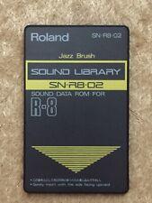 Biblioteca de sonido Roland SN-R8-08 Tarjeta de ROM de datos de sonido para R8 Cepillo De Jazz