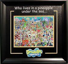 Spongebob Squarepants 11x14 Photo Collage Framed Overall 22x23 In Size