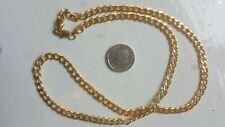 MENS 18K GOLD FILLED 20 INCH (50cm) 6MM CURB NECKLACE CHAIN