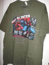 New MENS xxlarge WEB SLINGER SPIDER-MAN knit tshirt xxl SHIRT spiderman