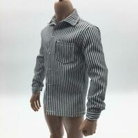 """1/6 Scale Men's Striped Shirt Clothes for 12"""" Male Action Figure Accessories"""