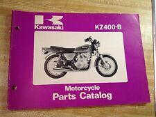 kawasaki KZ400-B motorcycle parts manual catalog kz400-b1 kz400-b2