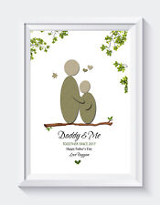 Personalised Father's Day Gifts Birthday Daddy Daughter Son Unframed Print ONLY