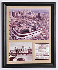 Detroit Tigers Old Briggs and Tiger stadium framed photo tribute