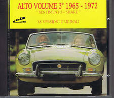 ALTO VOLUME 3 - 1965-1972 - 18 versioni orig. CD beat prog psych GIALLO RECORDS