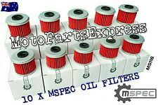 10 MSPEC OIL FILTERS HONDA CRF450RX CRF 450RX CRF450 RX CRF 450 RX FILTER MS116