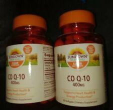 2 Sundown Co Q-10 400 mg, 30 Count Exp. 2022