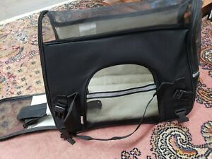 Paws & Pals Black Pet Carrier, Small. Bring your dog or cat with you. NEW