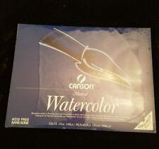CANSON Montval Aquarelle Water Colour Paper 12 x 16 15 Sheets 140lb (300G/M2)NEW
