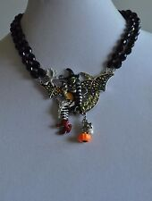 KIRKS FOLLY WITCH NECKLACE IN SILVER TONE