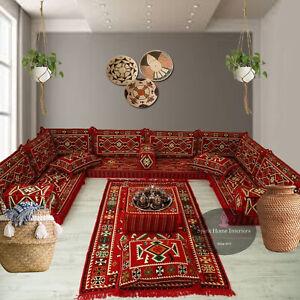 Arabic Majlis floor seating,corner sofa set,floor couch,kilim rug,bohemian decor