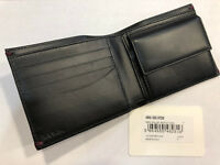 Paul Smith Men's Coin Pouch Wallet Domino Billfold 4x Credit Card Made in Italy