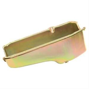 Summit Racing G3532 Oil Pan Steel Gold Zinc Chevy Small Block Each
