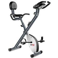 Bicicletta statica pieghevole con schienale, freno magnetico e pulsometro -Fitfi