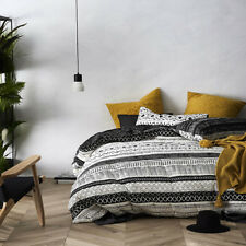 NEW HOME REPUBLIC COTTON QUILTED SINGLE BED COVER + PILLOWCASES SET IMANI