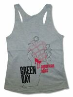 Green Day American Idiot Juniors Heather Grey Tank Top T Shirt New Official