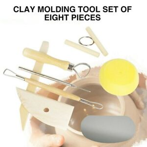 8Pcs Clay Sculpting Set Wax Carving Pottery Tools Shaper Polymer Modeling Making