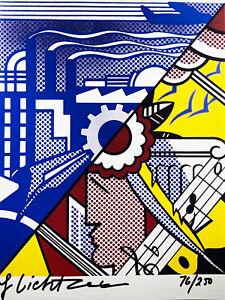 Roy Lichtenstein-Radierung(Graphik)-Steifpapier-vom Künstler persönlich signiert