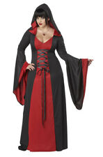 Adult Women Halloween Party Deluxe Hooded Robe Plus Size Polyester Costume 3xl
