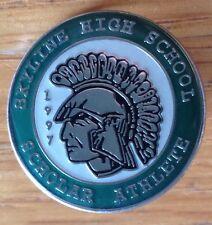 Skyline High School 1997 Scholar Athelete Pin Badge Rare Original (D2)
