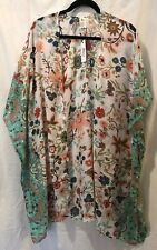 RAJ IMPORTS Women's/All Gender KIMONO/Coverup, Floral Print, One Size,
