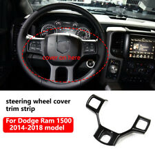 Carbon fiber steering wheel cover trim strip for 2014-2018 Dodge RAM 1500 2500
