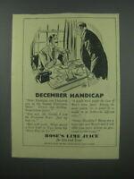 1954 Rose's Lime Juice Ad - December Handicap