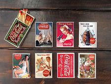 set of 8 matches box COCA coke vintage ad style match holder printing