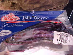 Mann's #1 Selling Bass Worm since 1967 TQG6-20 in TEQUILA GREEN for Pike, Bass