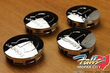 2009 - 2017 Chrysler Dodge Chrome Wheel Tire Mopar Center Caps Set of 4 OEM