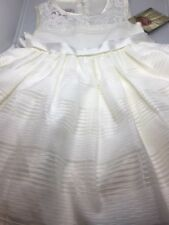Flower Girl Dress Princess Vintage Special Occasion Party Ivory Size 5
