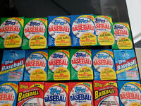 HUGE LOT OF 150-PLUS TOPPS VINTAGE BASEBALL CARDS IN SEALED WAX PACKS!!!