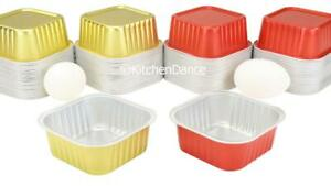 6 Ounce Square Fancy Dessert Cups -  Baking Cups - Disposables - #A31