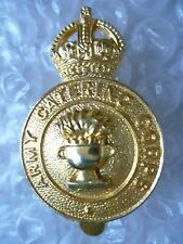 Badge- Army Catering Corps Cap Badge KC (All BRASS)