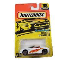 Matchbox Superfast #38 Corvette Stingray III New Diecast 1/64 White