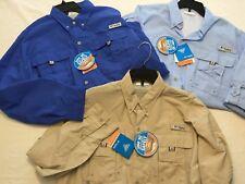 NWT Columbia Men's Bahama II FM7048 Vented Long Sleeve L/S UPF PFG Fishing Shirt