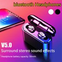 Waterproof Wireless Headset Bluetooth 5.0 Earbuds Headphones Noise Cancelling X8