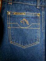 Jordache Vintage Vtg 80s Denim Jeans Horse Head High Waist Women's Skirt SZ 7