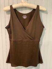 Spanx by Sara Blakely Brown Cami Tank Top Shapewear Size L Stretch~~~C6