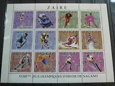 Zaire Olympia 1998 Nagano  Mi 1242 - 1253  Zd-Bogen  postfrisch