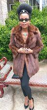 Designer Fabulous Elegant genuine soft sable Fur Coat jacket bolero S-6 $30,000+