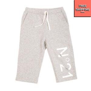 RRP€115 N 21 KIDS Sweat Shorts Size 40 / 11Y / 146-152CM Melange Logo Drawstring