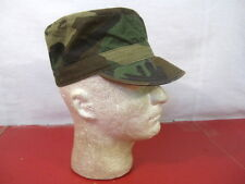 US Army Patol Cap or Hat Woodland Camouflage Pattern - Size Small - Nice Cond.