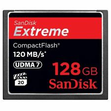 Sandisk Extreme 128 Gb Compactflash [cf] Card - 120 Mbps Read - 60 Mbps Write -
